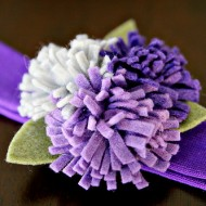 {DIY Tutorial} Felted Flower Headband