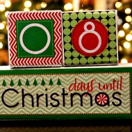 (diy tutorial) christmas countdown blocks