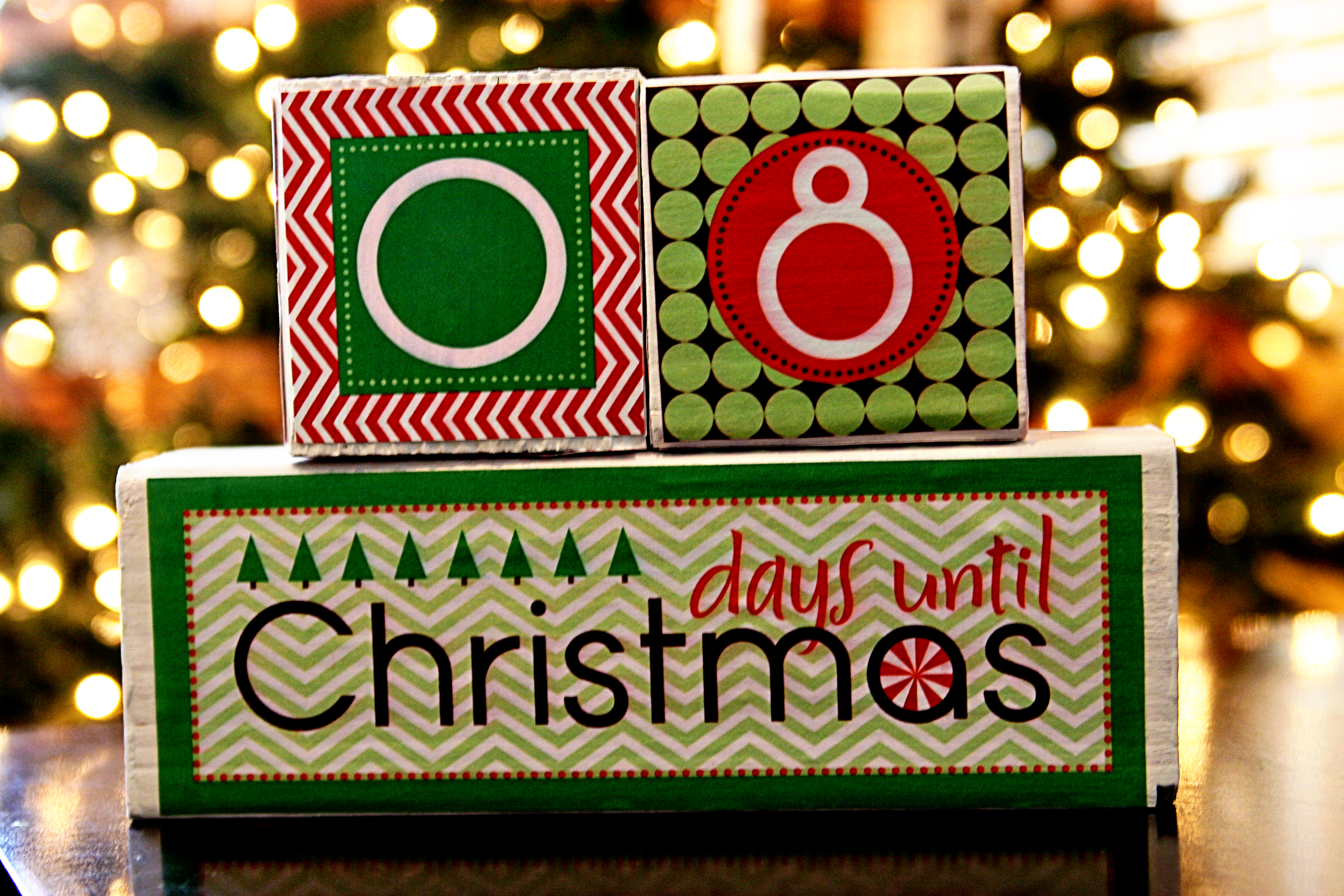 diy tutorial christmas countdown blocks see vanessa craft - Countdown Till Christmas Decoration