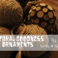 (guest tutorial) natural goodness ornaments