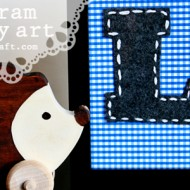 (diy tutorial) felt monogram nursery art