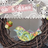 (crafting on a dime) spring wreath