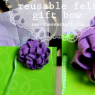 (diy tutorial) reusable felt gift bow