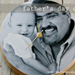 (diy tutorial) father's day photo clock