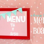 (crafting on a dime) diy menu board