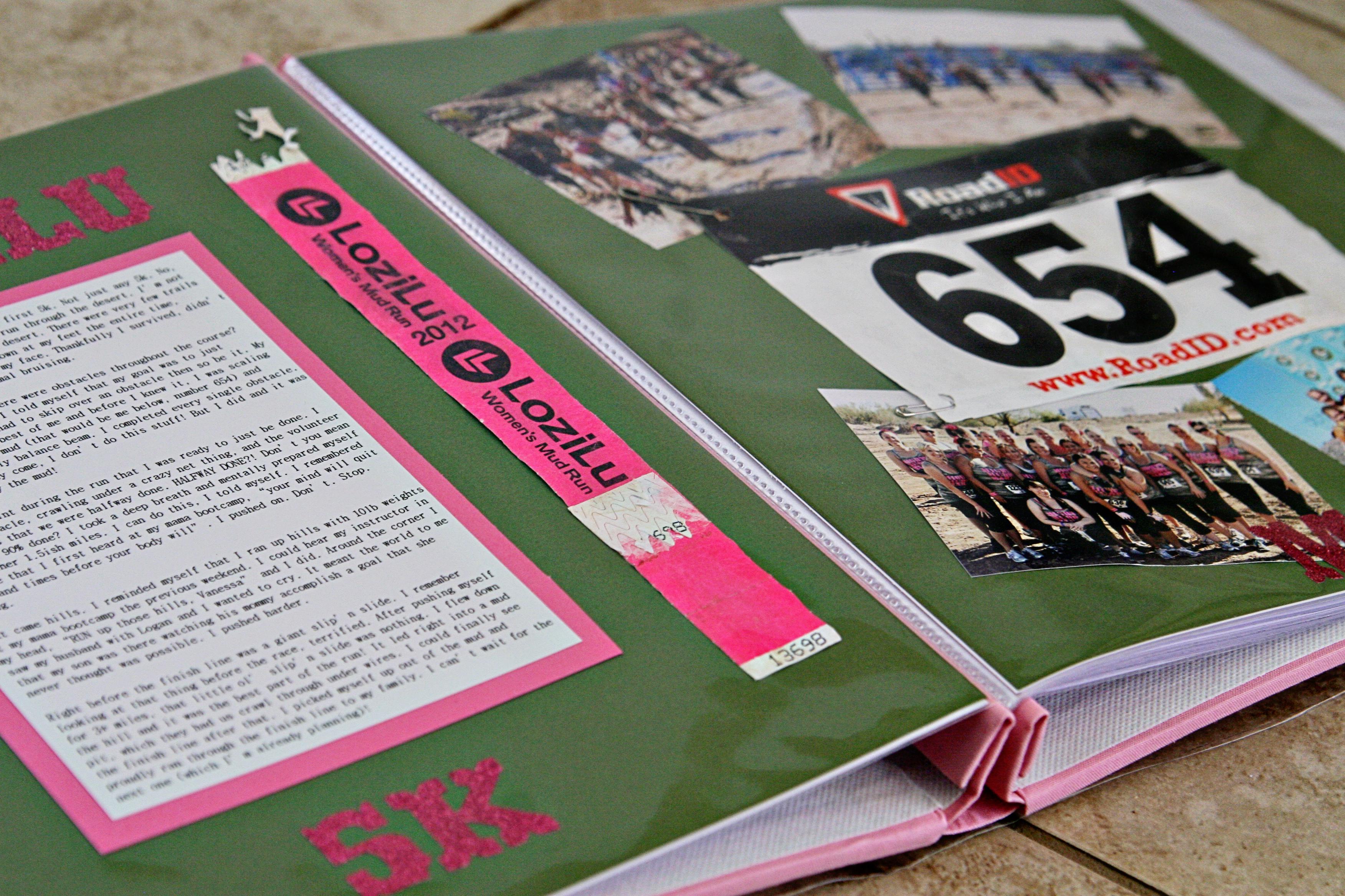 Running scrapbook ideas - And