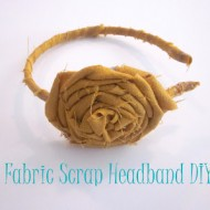 (crafting on a dime) fabric scrap headband