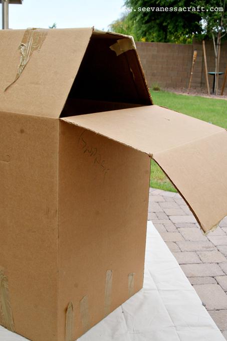 Diy Tutorial Cardboard Box Barn See Vanessa Craft