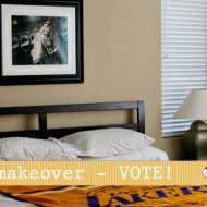 epic room makeover & my builder beige master bedroom & paint-phobic hubby