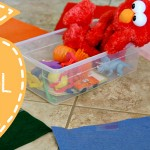 (tot school tuesday) color sorting wheel activity
