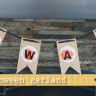 (20 crafty days of halloween) beware garland