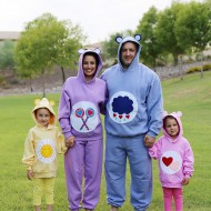 No Sew Family Care Bear Halloween Costume