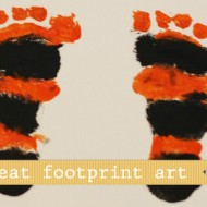 Trick Or Treat Footprint Art www.seevanessacraft.com
