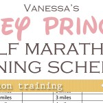 (buff mama monday) half marathon training schedule