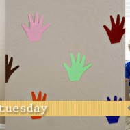 (tot school tuesday) high five color hands activity