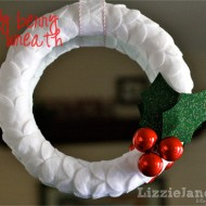 (20 crafty days of christmas) holly felt wreath