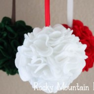 (20 crafty days of christmas) felt ornaments