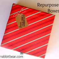 (20 crafty days of christmas) repurposed gift boxes