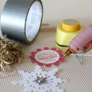 (20 crafty days of christmas) shiny rosette ornaments
