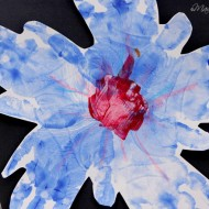 (tot school tuesday) handprint flower art