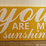 (giveaway) you are my sunshine wooden sign
