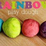 Homemade Rainbow Play Dough 1