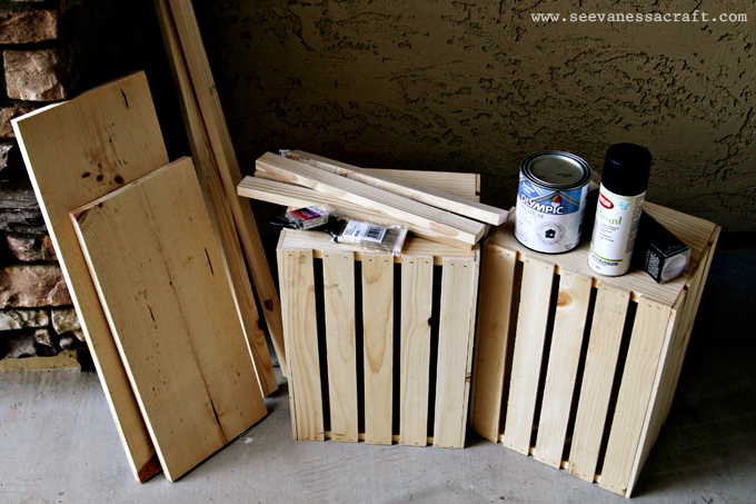 diy tutorial) crate lemonade stand for kids - See Vanessa Craft