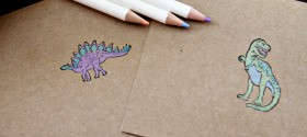 Easy Dino Thank You Card Kid Craft 3 web