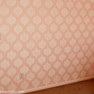 (giveaway) cutting edge stenciled nursery wall reveal