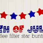 (diy tutorial) independence day coffee filter star bunting