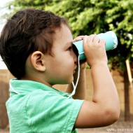 (tot school tuesday) toilet paper roll binoculars kid craft