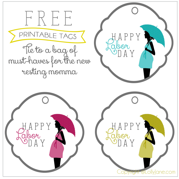 Worksheets For New Moms : Printables new mom labor day tags see vanessa craft