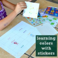(tot school tuesday) learning colors with stickers
