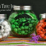 (20 crafty days of halloween) dry erase treat jars