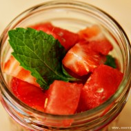 (recipe) strawberry watermelon mint salad