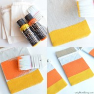 Halloween: Candy Corn Favor Bags