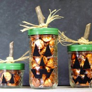 (20 crafty days of halloween) jack-o-lantern treat jars