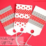 (20 crafty days of christmas) washi tape gift tags