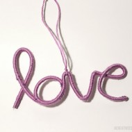 (20 crafty days of christmas) wire love ornament