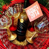 Chocolate Wine & DIY Glittered Wine Glasses #Cheers2Chocolate #ChocolatRouge #shop #cbias
