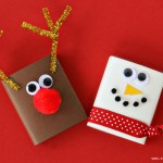 (20 crafty days of christmas) extra gum reindeer and snowman stocking stuffers