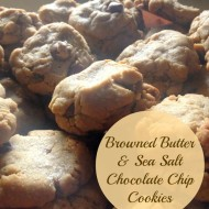 (20 crafty days of christmas) browned butter and sea salt chocolate chip cookies