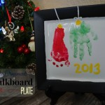 (20 crafty days of christmas) keepsake ornament chalkboard plate
