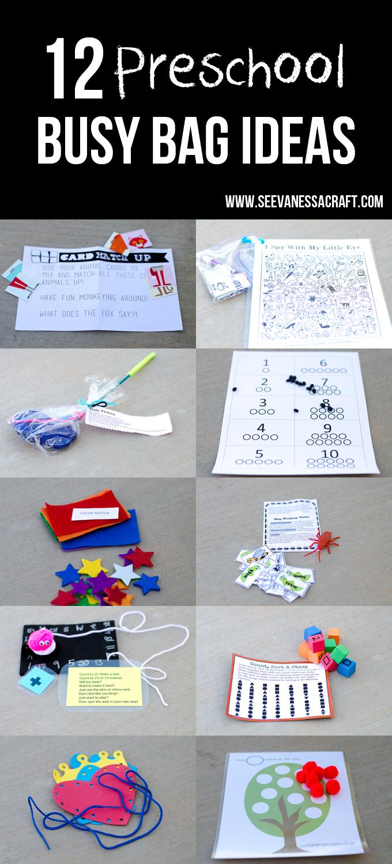 Busy Bag Swap 12 Preschool Busy Bag Ideas See Vanessa