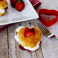 (recipe) heart shaped strawberry shortcake