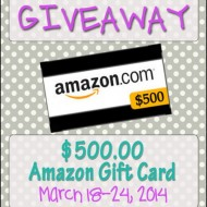 (giveaway) win a $500 amazon gift card