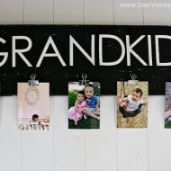 (craft tutorial) grandkids photo board for father's day