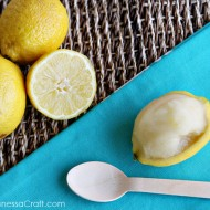 (recipe) homemade lemon sorbet