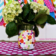 (craft tutorial) diy decoden button vase