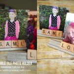 (craft tutorial) scrabble tile photo holder gift